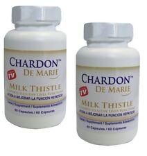 2 FRASCOS DE CHARDON DE MARIE 60 CAP. higado graso antioxidante chardon de marie