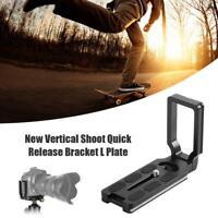 Aluminum Alloy Quick Release L-type Plate Bracket for DSLR Camera Tripod Head