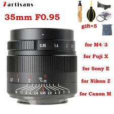 DHL 7artisans 35mm F0.95 APS-C Manual Focus Lens for Canon Nikon Sony Fuji M4/3