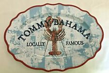 """Tommy Bahama Lobster MELAMINE Serving Tray Platter Nautical Red Blue 16"""" Oval"""