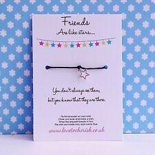 Friends Are Like Stars - Star Charm - Wish / Friendship Bracelet Gift Present