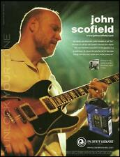 John Scofield Ibanez AS200 Planet Waves guitar cables ad 8 x 11 advertisement