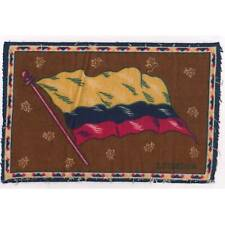 "Tobacco Flag Ecuador 1900's flannel-felt 8""x5.25"" cigar/cigarette premium ᵇ F1"