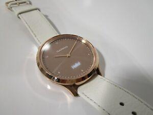 Garmin 010-01850-12 Vivomove HR Sport Smartwatch White Silicone Band Rose Gold