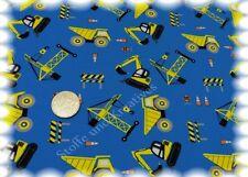 Rood Works Stretch-Jersey blau Hilco Shirtstoff Baumaschinen 50 cm Kinderstoffe