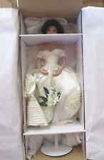 Ashton Drake Jacqueline Kennedy Bisque Porcelain Bride Doll w/ Box & Stand Mint