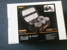 Fox Camolite Glug 8 Pot Case Carp fishing tackle