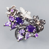 Amethyst Ring Silver 925 Sterling Special Jewelry Price! Size 7 /R141879