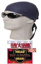 NAVY BLUE Hav-A-Danna FITTED BANDANA w/TIES Head Wrap Skull Cap DOO DO Du RAG