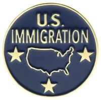 US Immigration Department Hat or Lapel Pin PPMSP1222D120k