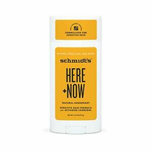 Schmidt's Aluminum Free Natural Deodorant for Women and Men, Here + Now for