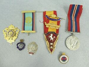 Job Lot of Military Medals Merchant Navy Royal British Legion Used Condition