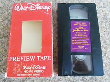 walt disney Ducktales The Movie Treasure Of The Lost Lamp VHS demo tape rare