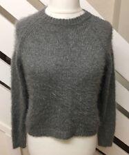 Ladies TOPSHOP Grey Medium To Thick Knit Jumper Size 12 UK