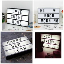 141 Letters A4 Cinematic Cinema Light Up Letter Box Sign Lightbox Wedding Party