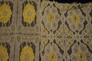 Antique Gold Doily Set of 2   One is almost 60 inches long