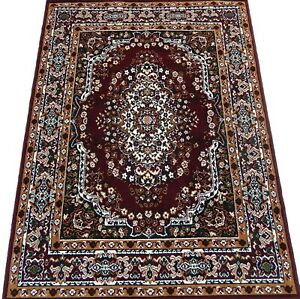 5x8 Area Rug Floral Carpet Burgundy, Hunter Green Woven Actual Size 5'2 x 7'2