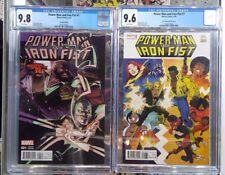 Set of 2: Power Man & Iron Fist #1 Visions Var CGC 9.8 & Von Eeden Var CGC 9.6