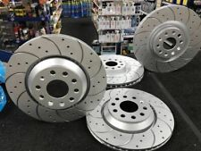 AUDI S3 QUATTRO 8V 2014ON BRAKE DISC CROSS DRILLED GROOVED  FRONT REAR