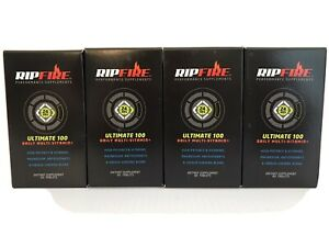 Lot 4 RipFire Ultimate 100 Daily Multi Vitamin Performance Supplement 60 Tabs