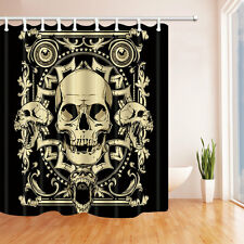 Creative skeleton Waterproof Polyester-Fabric Shower Curtain & 12hooks 71*71""