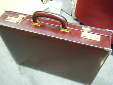 "Vintage Bally Monogram Hard Sided Brass Lock Briefcase  ITALY 18"" X 13"" X 3"""