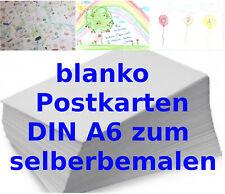 100 Blanko Postkarten DIN A6 300g Post Karten DIY DIN A6  zum selber gestalten