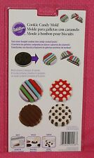 Dot Stripes Chocolate Cookie/ Candy Mold, Wilton,Clear Plastic, 2115-0006