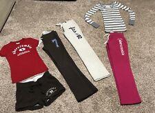 Girls ABERCROMBIE KIDS Lot - SIZE Small - Sweatpants & Shirts - 6 Items