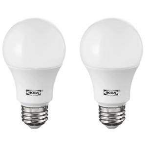 IKEA RYET LED E26 Globe Opal 400 Lumen 2700 Kelvin Light Bulbs 2 Pack