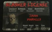 Jason Voorhees Friday The 13th novelty Drivers Slasher License ID Mask Camp