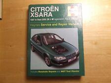 CITROEN Xsara Gasolina & Diesel 1997 ~ 2000 Servicio Taller Reparación manual de Haynes