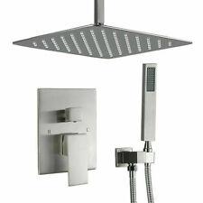 16'' Shower System Ceiling Brushed Nickel Shower Faucet Set W/ Rain Shower Head