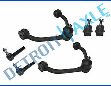 Brand New 6pc Kit: 2 Upper Control Arms + 2 Lower Ball Joints + 2 Outer Tie Rods