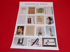 [Coll.R-JEAN MOULIN ART XXe] JIRI KOLAR (CZ) AFFICHE 1991 DICTIONNAIRE METHODES