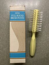 "Rare NEW In Box Vintage AVON Full Round Brush Petite 7"" Yellow Nylon Bristles"