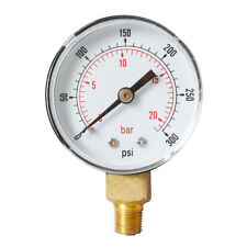 Precision Water Pressure Gauge 1/4BSPT Y504 0-300psi for Air Tank Accessory
