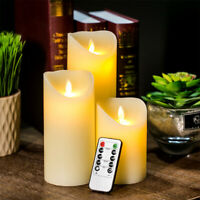 Flameless Battery Power Warm White Flickering LED Candle Lights Wax Christmas