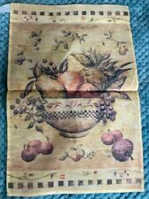 "Decorative Garden Flag Country Bowl of Fruit 12"" x 18"""