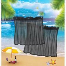 2x Retractable Car Window Windscreen Sun Shade UV Proof Gauze Cloth Mesh Curtain
