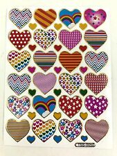 42 Assorted Heart Love Sticker Kids Scrapbook Card Envelope Sealing IQ Game Cute