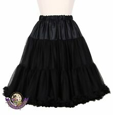 "Black ""Kitten Soft"" Rockabilly Petticoat ~ 50s Pinup Vintage Retro Plus Size"