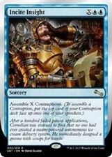 4x Incite Insight  -NM- Blue Rare MTG -Unstable-