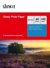 4x6 Glossy Inkjet Photo Paper A6 10x15cm 4x6 230 240Gsm - 160 Sheets Uinkit