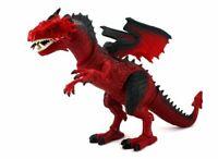 DRAGON RED ROAR T-Rex Walking Dinosaur LED Light Sound Kids Boys Toy