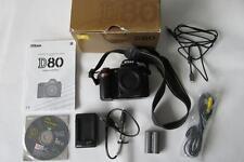 Nikon D D80 10.2MP Digital-SLR fotocamera DSLR-solo corpo-nero-Boxed