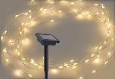 Solar Microlichterkette 100 LED - 5 m - Outdoor Draht Lichterkette Leuchtdraht