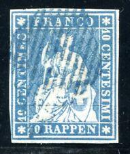 SCHWEIZ 1854 14Ib gestempelt MÜNCHENER DRUCK TADELLOS gepüft ABT BPP (S4340