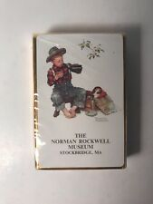 Vintage Norman Rockwell Museum Playing Cards Boy Dog Mysterious Malady Nip