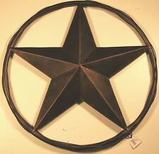 "24"" LONE STAR SOLID RING BARB WIRE BARN METAL ART RUSTIC BRONZE WESTERN HOME"